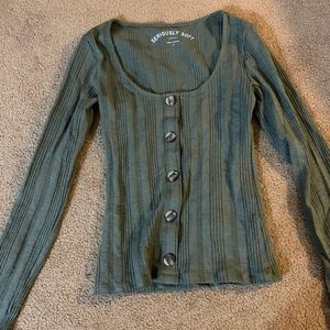 Aeropostale Long Sleeve Button Tee